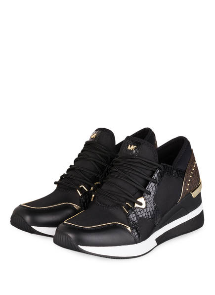 MICHAEL KORS Plateau-Sneaker LIV , Farbe: SCHWARZ/ BRAUN (Bild 1)
