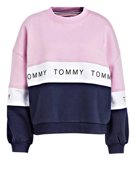 TOMMY JEANS Sweatshirt, Farbe: ROSA/ BLAU/ WEISS (Bild 1)