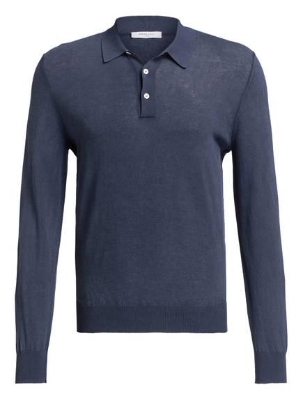 BOGLIOLI Strick-Poloshirt, Farbe: NAVY (Bild 1)