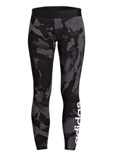 adidas 7/8-Tights ESSENTIAL, Farbe: SCHWARZ/ GRAU (Bild 1)