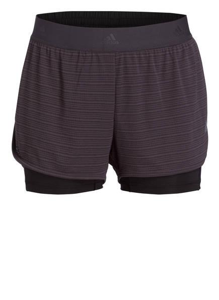 adidas 2-in-1 Shorts CHILL, Farbe: GRAU (Bild 1)