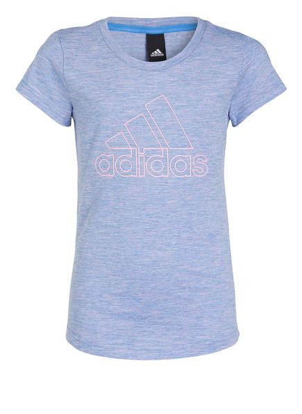 adidas T-Shirt ID WINNER, Farbe: HELLBLAU MELIERT (Bild 1)