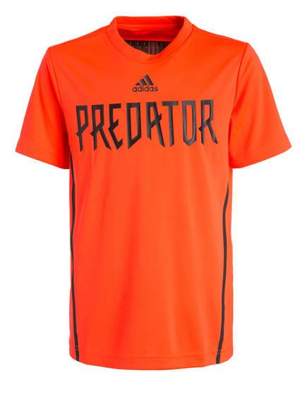 adidas T-Shirt PREDATOR, Farbe: ORANGE (Bild 1)