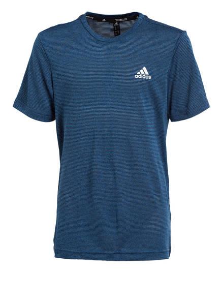 adidas T-Shirt TEXTURED, Farbe: BLAU MELIERT (Bild 1)