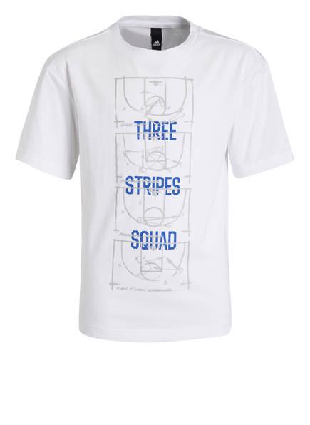adidas T-Shirt ID STADIUM, Farbe: WEISS/ BLAU (Bild 1)