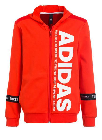 adidas Sweatjacke SPORT ID, Farbe: ORANGE/ WEISS (Bild 1)