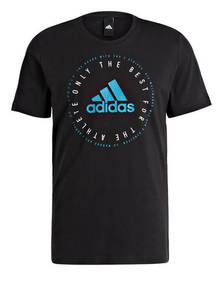 adidas T-Shirt MUST HAVES EMBLEM, Farbe: SCHWARZ (Bild 1)