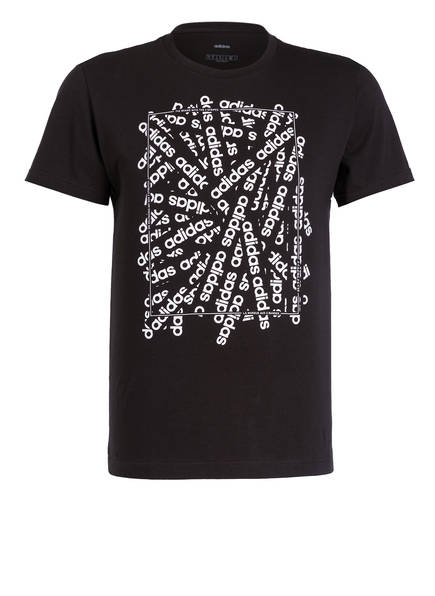 adidas T-Shirt LINEAR SCATTER , Farbe: SCHWARZ (Bild 1)