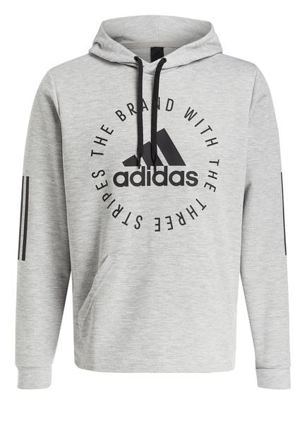 adidas Hoodie SPORT ID, Farbe: HELLGRAU MELIERT (Bild 1)