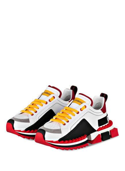 DOLCE&GABBANA Sneaker SUPER KING, Farbe: WEISS/ ROT/ GRAU (Bild 1)