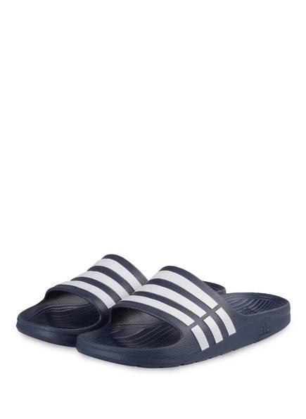 adidas Badeschuhe DURAMO, Farbe: DUNKELBLAU/ WEISS (Bild 1)