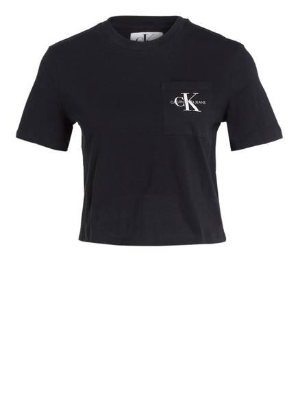 Calvin Klein Jeans Cropped-Shirt, Farbe: SCHWARZ (Bild 1)