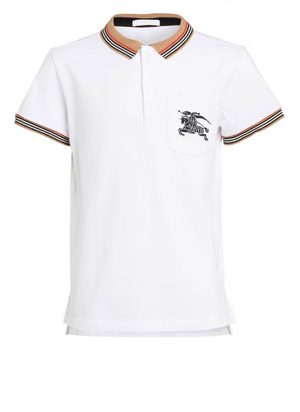 BURBERRY Poloshirt, Farbe: WEISS (Bild 1)