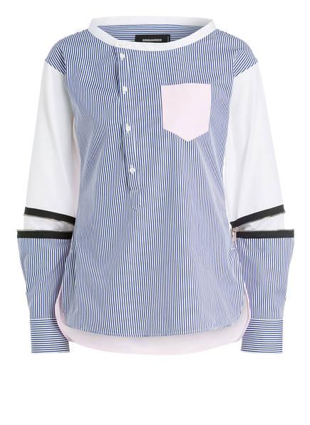 DSQUARED2 Bluse , Farbe: WEISS/ BLAU/ HELLROSA (Bild 1)
