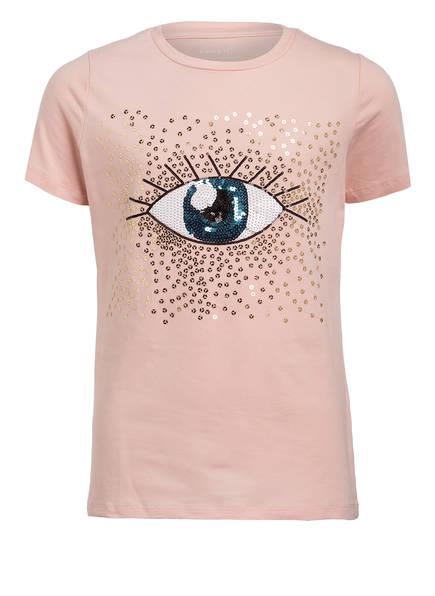 name it T-Shirt mit Paillettenbesatz, Farbe: HELLROSA (Bild 1)