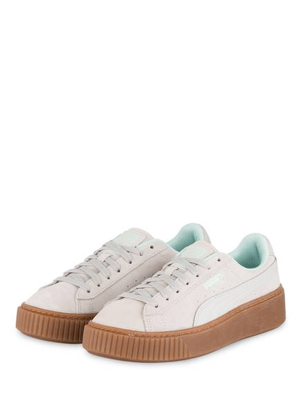 PUMA Plateau-Sneaker SUEDE PLATFORM RADICALS, Farbe: CREME (Bild 1)