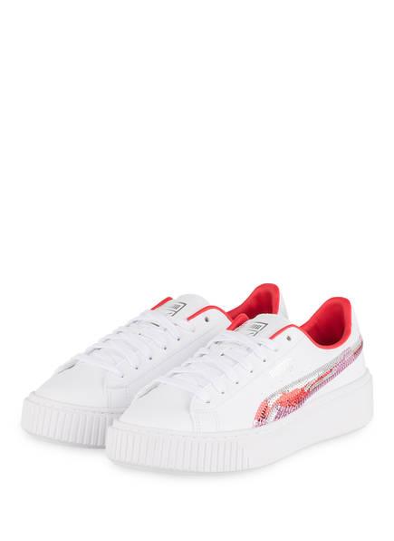 PUMA Sneaker BASKET PLATFORM TRAILBLAZER, Farbe: WEISS (Bild 1)