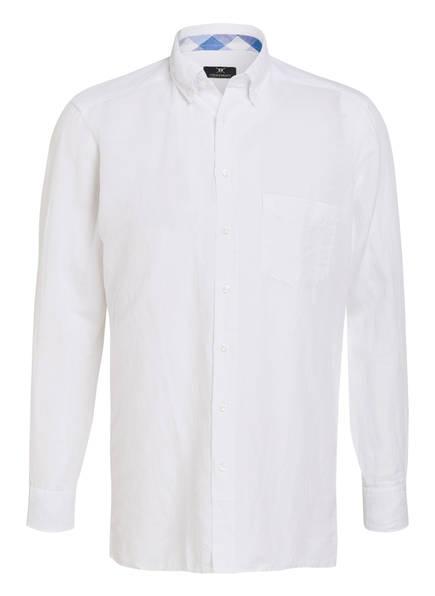 STROKESMAN'S Hemd Tailored Fit mit Leinenanteil, Farbe: HELLGRAU (Bild 1)