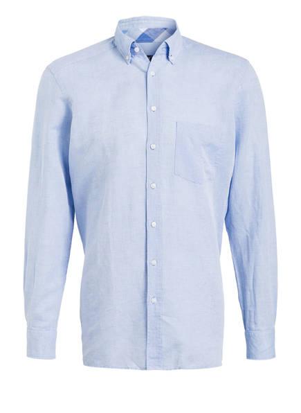 STROKESMAN'S Hemd Tailored Fit mit Leinenanteil, Farbe: HELLBLAU (Bild 1)