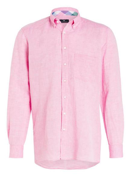 STROKESMAN'S Hemd Tailored Fit mit Leinenanteil, Farbe: ROSA (Bild 1)