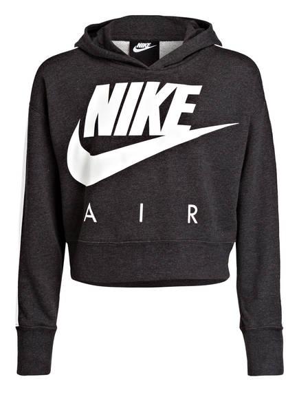 Nike Cropped-Hoodie AIR, Farbe: DUNKELGRAU MELIERT (Bild 1)