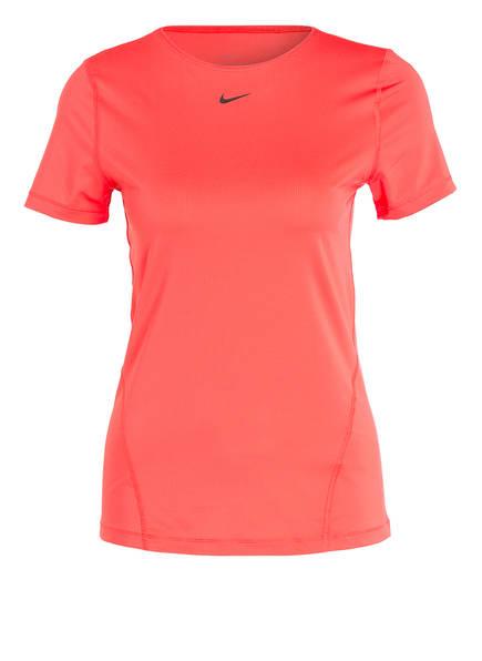 Nike T-Shirt PRO DRI-FIT aus Mesh, Farbe: ORANGE (Bild 1)