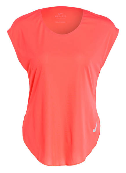 Nike Laufshirt CITY SLEEK, Farbe: ORANGE (Bild 1)