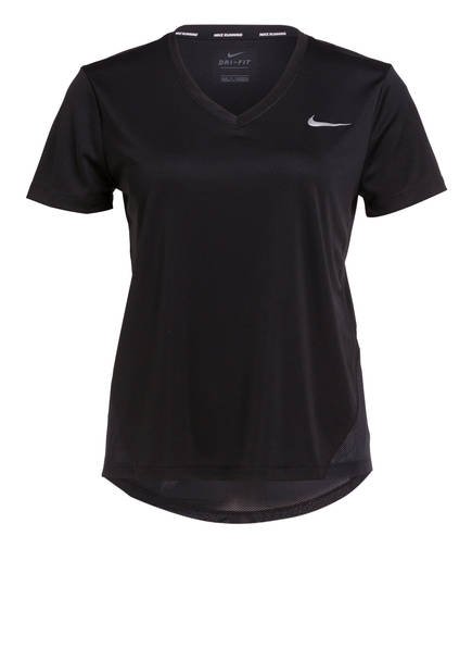 Nike Laufshirt MILER, Farbe: SCHWARZ (Bild 1)