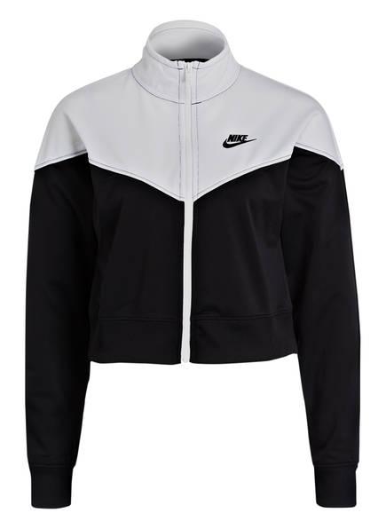 Nike Cropped-Trainingsjacke HERITAGE, Farbe: SCHWARZ/ WEISS (Bild 1)