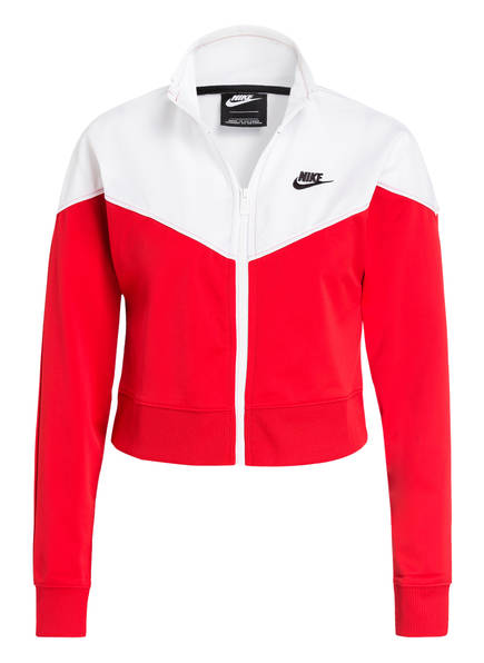 Nike Cropped-Trainingsjacke HERITAGE, Farbe: ROT/ WEISS (Bild 1)