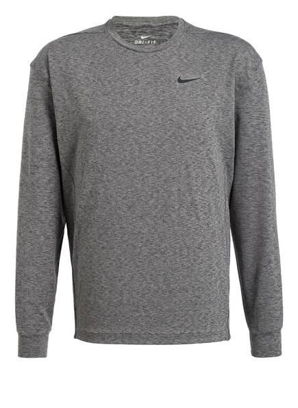 Nike Laufshirt DRY CREW, Farbe: GRAU MELIERT (Bild 1)