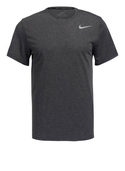 Nike T-Shirt BREATHE, Farbe: DUNKELGRAU MELIERT (Bild 1)