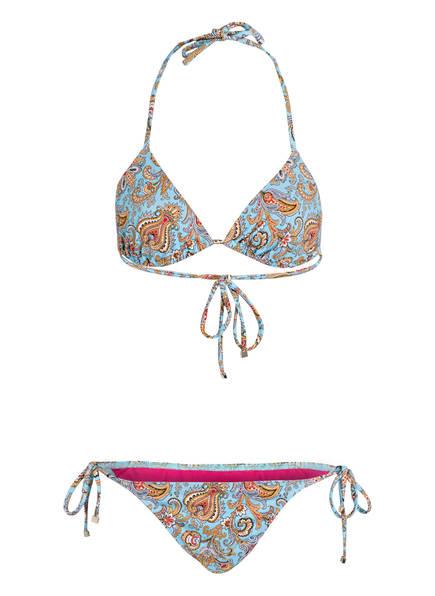 ETRO Triangel-Bikini TAKU, Farbe: HELLBLAU/ BRAUN (Bild 1)