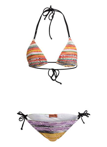 MISSONI Triangel-Bikini, Farbe: ROT/ LILA/ SCHWARZ (Bild 1)