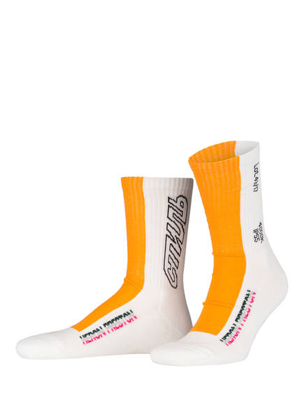 HERON PRESTON Socken, Farbe: WEISS/ ORANGE (Bild 1)