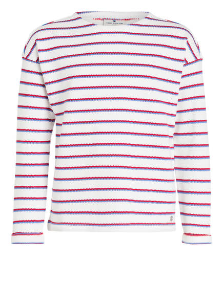 TOM TAILOR Sweatshirt, Farbe: WEISS/ ROT/ BLAU GESTREIFT (Bild 1)