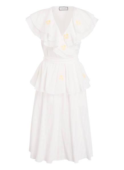 Innika Choo Wickelkleid mit Stickereien, Farbe: WEISS (Bild 1)