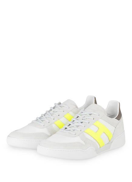 HOGAN Sneaker, Farbe: WEISS/ HELLGRAU/ GELB (Bild 1)