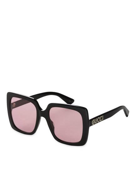 6541566512d GUCCI Sonnenbrille GG0418S, Farbe 002 - SCHWARZ/ PINK (Bild 1)