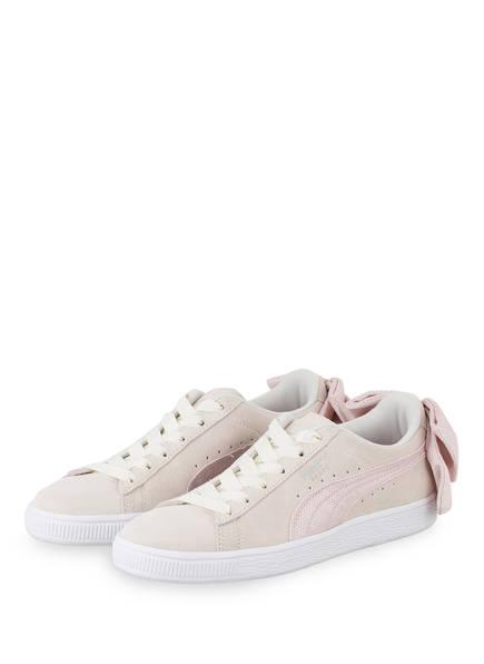 PUMA Sneaker SUEDE BOW HEXAMESH, Farbe: CREME/ HELLROSA (Bild 1)