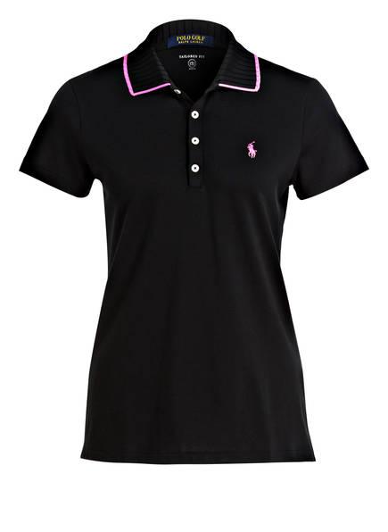 POLO GOLF RALPH LAUREN Piqué-Poloshirt, Farbe: SCHWARZ (Bild 1)