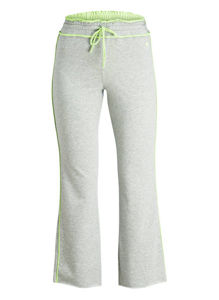 DEHA 7/8-Sweatpants, Farbe: LIME/ GRAU MELIERT (Bild 1)