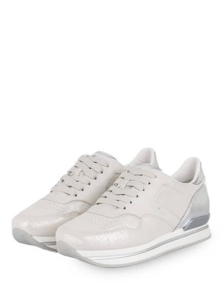 HOGAN Plateau-Sneaker , Farbe: HELLGRAU/ SILBER (Bild 1)