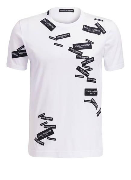 DOLCE&GABBANA T-Shirt, Farbe: WEISS/ SCHWARZ (Bild 1)