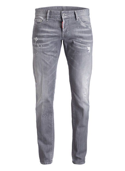 DSQUARED2 Destroyed-Jeans DAN Slim Fit, Farbe: HELLGRAU (Bild 1)