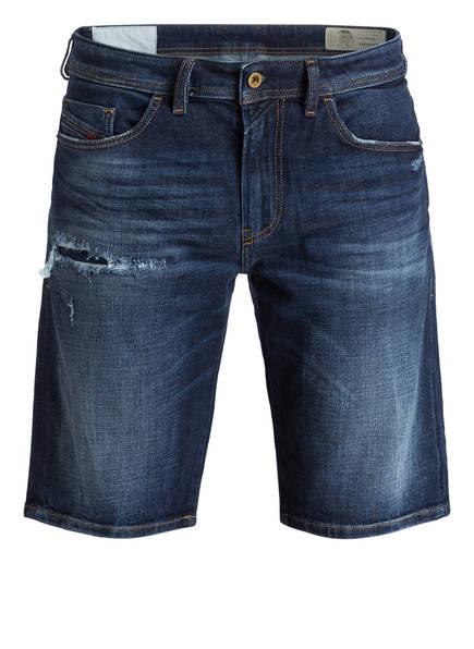 DIESEL Jeans-Shorts THOSHORT Slim Fit, Farbe: DENIM BLUE DESTROYED EFFECT (Bild 1)