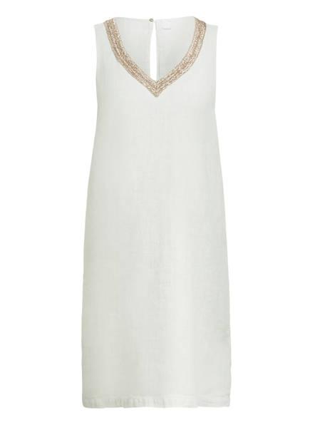 120%lino Leinenkleid mit Perlenbesatz, Farbe: HELLGRAU (Bild 1)