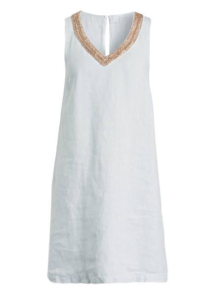 120%lino Leinenkleid mit Perlenbesatz, Farbe: HELLBLAU (Bild 1)