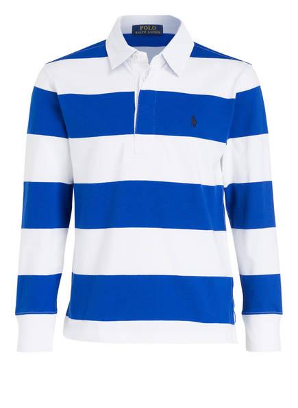 POLO RALPH LAUREN Poloshirt, Farbe: BLAU/ WEISS GESTREIFT (Bild 1)