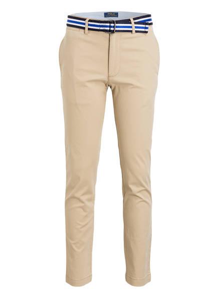 POLO RALPH LAUREN Chino mit Gürtel Skinny-Fit, Farbe: BEIGE (Bild 1)